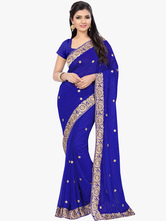 AF-S2-661347 Women's Indian Costume Halloween Royal Blue Party Dress Asian Costume