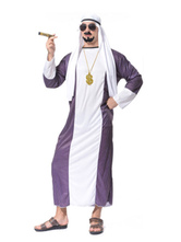 Anime Costumes AF-S2-661283 Arabian Night Costume Halloween Men's Purple Gown With Headband