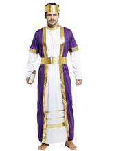 Anime Costumes AF-S2-661309 Arabian Night Costume Halloween Men's Purple Gown Outfit Asian Costume