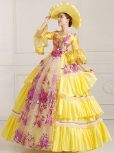 Anime Costumes AF-S2-661355 Women's Vintage Costume Victorian Royal Halloween Ball Gown Daffodil Pageant Dress