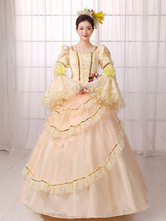 Anime Costumes AF-S2-661363 Women's Vintage Costume Victorian Royal Halloween Ball Gown Apricot Pageant Dress