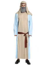 Anime Costumes AF-S2-661341 Halloween Arabian Costume Men's Khaki Gown With Headband