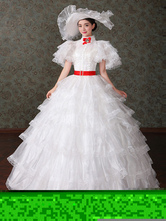 Anime Costumes AF-S2-661383 Women's Vintage Costume Victorian Ball Gown White Tulle Dress Retro Costume