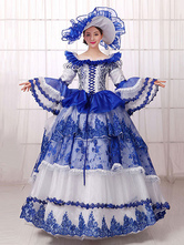 Anime Costumes AF-S2-661401 Women's Vintage Costume Victorian Ball Gown Royal Blue Dress With Hat