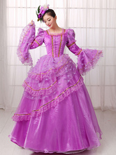 Anime Costumes AF-S2-661387 Women's Vintage Costume Victorian Royal Ball Gown Lilac Dress Retro Costume
