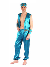 Anime Costumes AF-S2-661289 Arabian Night Costume Halloween Men's Blue Outfit Asian Costume