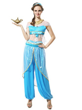 Anime Costumes AF-S2-661301 Arabian Princess Costume Halloween Women's Blue Outfit Asian Costume