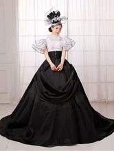 Anime Costumes AF-S2-661391 Women's Vintage Costume Victorian Ball Gown Black Dress Retro Costume