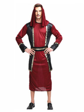 Anime Costumes AF-S2-661297 Arabian Night Costume Halloween Men's Burgundy Gown Outfit Asian Costume