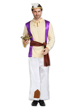Anime Costumes AF-S2-661307 Arabian Night Costume Halloween Men's Outfit Set