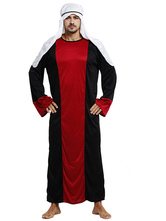 Anime Costumes AF-S2-661333 Halloween Arabian Costume Men's Black Gown With Headband Asian Costume