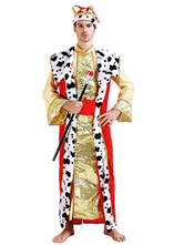 Anime Costumes AF-S2-661321 Arabian Night Costume Halloween Men's Gold Gown Outfit Asian Costume