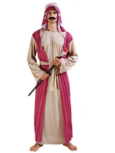Anime Costumes AF-S2-661323 Halloween Arabian Costume Men's Gown With Headband Asian Costume