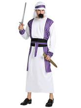 Anime Costumes AF-S2-661313 Arabian Night Costume Halloween Men's White Gown Outfit