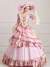 Anime Costumes AF-S2-661377 Women's Vintage Costume Victorian Royal Ball Gown Pink Pageant Dress