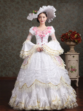 Anime Costumes AF-S2-661379 Women's Vintage Costume Victorian Ball Gown White Lace Pageant Dress