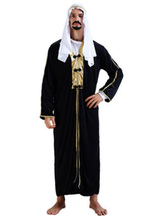 Anime Costumes AF-S2-661331 Halloween Arabian Costume Men's Black Gown Outfit Asian Costume