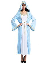 Anime Costumes AF-S2-661339 Halloween Arabian Costume Women's Blue Gown With Headband