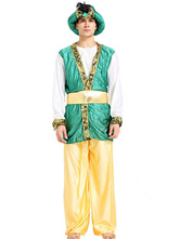 Anime Costumes AF-S2-661319 Halloween Arabian Costume Men's Green Outfit Asian Costume