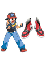 Anime Costumes AF-S2-661737 Pokemon Go Pocket Monster Ash Ketchum Cosplay Shoes