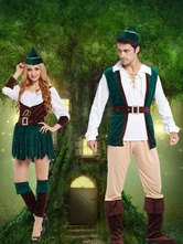 Anime Costumes AF-S2-662095 Halloween Couple Costume Robin Hood Saint Patrick's Day Green Outfit