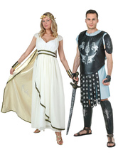 Anime Costumes AF-S2-662071 Halloween Couple Costume Roman Gladiator Fancy Dress Outfit