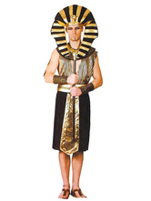 Anime Costumes AF-S2-662067 Halloween Couple Costume Egyptian Pharaoh Queen Gold Fancy Dress Outfit
