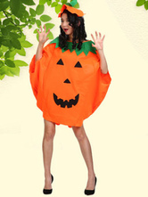 Anime Costumes AF-S2-662087 Halloween Pumpkin Costume Orange Cape With Hat