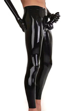 Anime Costumes AF-S2-662131 Men's Sexy Costume Black Shiny Metallic Skinny Gay Costume