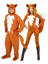 Anime Costumes AF-S2-662075 Halloween Couple Costume Fox Anime Animal Faux Fur Jumpsuit Outfit