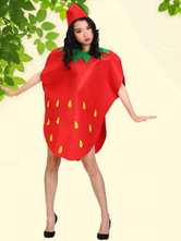 Anime Costumes AF-S2-662083 Halloween Strawberry Costume Red Cape With Hat
