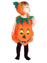 Anime Costumes AF-S2-662059 Halloween Pumpkin Costume Orange Cape With Hat For Kids