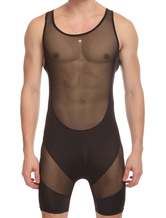 Anime Costumes AF-S2-662097 Men's Sexy Costume Black Sheer Leotard Gay Costume