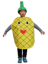 AF-S2-662061 Halloween Pineapple Costume Daffodil Cape With Hat For Kids