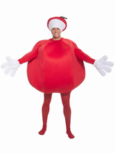 Anime Costumes AF-S2-662073 Halloween Apple Costume Red Jumpsuit With Hat