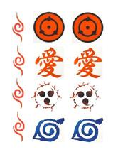 Anime Costumes AF-S2-662205 Naruto Sharingan Gaara Waterproof Temporary Tattoo