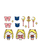 Anime Costumes AF-S2-662241 Sailormoon Kawaii Bowknot Temporary Tattoo