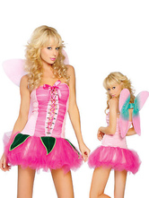 Anime Costumes AF-S2-662401 Halloween Sexy Fairy Costume Butterfly Women's Pink Party Dress With Wings