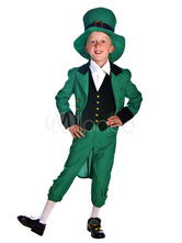 Anime Costumes AF-S2-662415 Kid's Fairy Costume Saint Patrick's Day Halloween Green Suit Outfit