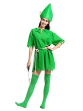 Anime Costumes AF-S2-662443 Halloween Sexy Costume Peter Pan Fairy Saint Patrick's Day Costume Green Party Dress Outfit