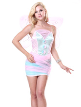 Anime Costumes AF-S2-662395 Halloween Sexy Fairy Costume Butterfly Women's Pink Party Dress With Wings