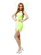 Anime Costumes AF-S2-662439 Sexy Fairy Costume Halloween Saint Patrick's Day Women's Green Party Dress With Wings