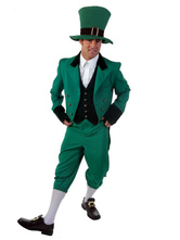 Anime Costumes AF-S2-662413 Halloween Fairy Costume Saint Patrick's Day Men's Green Suit Outfit