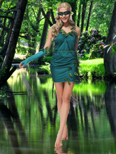 Anime Costumes AF-S2-662409 Halloween Fairy Costume Saint Patrick's Day Women's Green Dress Outfit