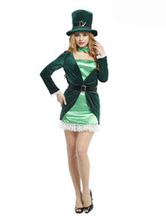 Anime Costumes AF-S2-662433 Halloween Magician Costume Women's Green Party Dress Outfit