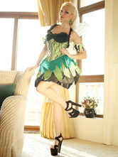 Anime Costumes AF-S2-662393 Sexy Fairy Costume Halloween Saint Patrick's Day Women's Green Dress With Wings