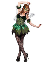 Anime Costumes AF-S2-662411 Sexy Fairy Costume Saint Patrick's Day Halloween Costume Green Party Dress Outfit