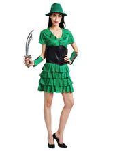 Anime Costumes AF-S2-662421 Sexy Fairy Costume Peter Pan Saint Patrick's Day Halloween Cosplay Costume Green Party Dress Outfit