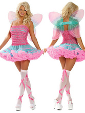 Anime Costumes AF-S2-662403 Halloween Sexy Fairy Costume Women's Pink Party Dress With Wings