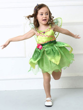 Anime Costumes AF-S2-662429 Kid's Fairy Costume Saint Patrick's Day Halloween Green Party Dress With Wings